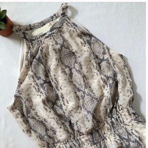🎉New! 🎉 Japna High Neck Snake Print Mini Dress